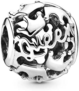 Queen & Regal Crowns 925 Sterling Silver Charm - 798354