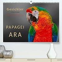 Gesichter - Papagei Ara (Premium, hochwertiger DIN A2 Wandkalender 2022, Kunstdruck in Hochglanz): Eindrucksvolle Bilder der exotischen Voegel. (Monatskalender, 14 Seiten )