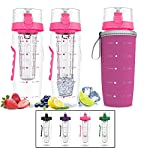 Bevgo Infuser Water Bottle – Large 32oz - Hydration Timeline Tracker