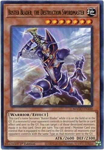 Buster Blader, The Destruction Swordmaster - MAGO-EN100 - Gold Rare - 1st Edition