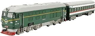 Black Temptation Trenes Retro Modelo de Tren de Juguete de simulación Locomotora niños Juguetes Verde
