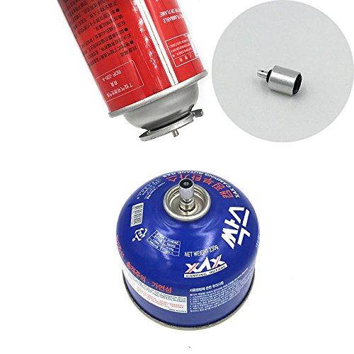 Forfar Adaptador de válvula de gas plana para acoplar cilindro accesorio al aire libre camping Propano rápido relleno