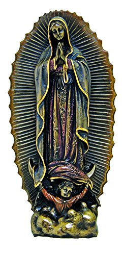 Woodington's Our Lady of Guadalupe 9 Inch Bronze Statue
