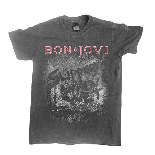 Bon Jovi Slippery When Wet (Vintage WASH) T-Shirt L