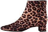 find. Block Heel Square Toe Botines, Braun Brown Leopard, 40 EU