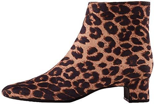 find. Block Heel Square Toe Stiefeletten, Braun Brown Leopard), 40 EU