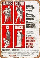 愛の金属サインインチレトロな壁の装飾ティンサインバー、カフェ、家の装飾とロシアからのジェームズ・ボンド