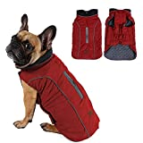 Withu Cold Winter Dog Pet Coat Jacket Vest Warm Outfit Clothes for Small Medium Large Dogs Red M