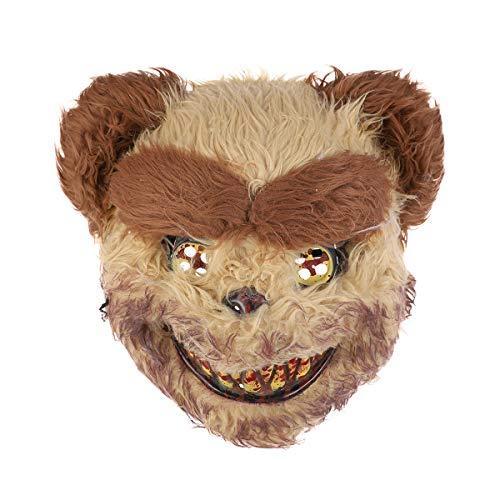 Scary Bloody Bear Halloween Mask Costume Prop Halloween Mask Dress-up Accessory for Halloween Masquerade Cosply Costume Party Performance (Yellow) -  Amosfun, B16FEF30HAD37F3K