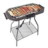 N\C Gril électrique, réchaud à Charbon-électrique à Double Usage Grand Barbecue Vertical sans fumée Convient pour Une Utilisation en intérieur et en extérieur pour 10 Personnes LKWK