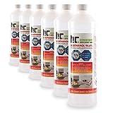 Höfer Chemie 6 x 1 l (6 litres) Bioéthanol 96,6 % Premium - QUALITÉ certifiée par TÜV SÜD - pour cheminée à éthanol, foyer à éthanol, cheminée de table à éthanol et cheminée au bioéthanol - Fabriquée en France