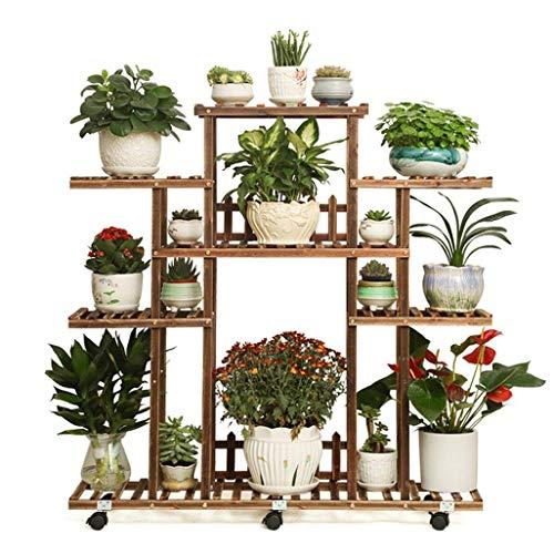 LLYU Houten tuinplank display stand steiger plank van bloem plank operationele stand/tuin opbergrek binnen of buiten
