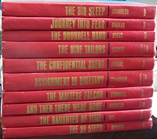 Ten volumes. JOURNEY INTO FEAR, THE 39 STEPS, AND THEN THERE WERE NONE, MALTESE FALCON, THE NINE TAILORS, THE DOORBELL RANG, THE CONFIDENTIAL AGENT, THE BIG SLEEP, ASSIGNMENT IN BRITTANY, THE DAUGHTER OF TIME. (Great Mystery Books, 10 Volumes)
