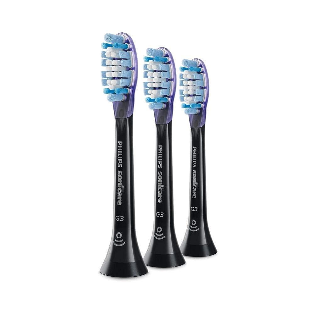 新鮮なコントロールペデスタルPhilips HX9053 Sonicare G3 Premium GumCare 標準のソニック歯ブラシヘッド Black [並行輸入品]