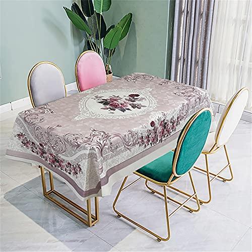 Tovaglia in Tessuto Impermeabile E Antiappannamento in Stile Nazionale Tovaglia da Pranzo Stampa Digitale Tovaglia Tavolino Tavolino da Pranzo Tavolino da Esterno 140x240cm(WxH) V