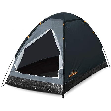 ハック 組立式 1人用 ドームテント 一人用 テント 組み立て簡単 コンパクト 収納袋付き アウトドア キャンプ ブラック 本体:w95×d195×h90cm パッケージ:w60×d10×h12cm