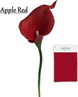 10pc set Real Touch calla lily-Apple Red(David's Bridal Color)