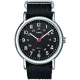 Timex Unisex T2N647 Weekender Black Nylon Slip...