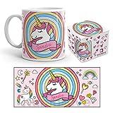 Kembilove Taza de Desayuno Personalizada de Unicornio con Nombre – Tazas Unicornio...