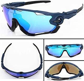 FidgetGear New 4 Pair Lens Polarized UV400 Cycling Bicycle Sunglasses Jawbreaker Goggles