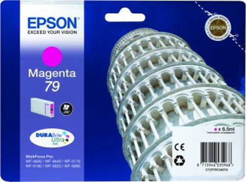 Epson Original T79 Tintenpatrone Pisa, WF-4630DWF WF-4640DTWF WF-5110DW WF-5190DW WF-5620DWF WF-5690DWF WF-5190DW WF-5690DWF, (magenta)