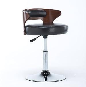 Lounge- & Cocktailsessel Verstellbare Höhe, Drehstuhl, Hoher Schemel, Klubsessel, Sitzhöhe 40-55CM (Farbe : A)