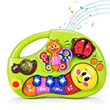 HOLA Musical Baby Toys 6 to 12 Months, Baby Piano Sounds Light Up Bugs Toy, Learning Developmental Infant Toys for 6, 9, 12-18 Months, Toys for 1 Year Old Girl Boy