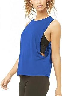 Bestisun Womens Flowy Workout Tank Tops Yoga Athletic Yoga Shirts High Neck Muscle Tank