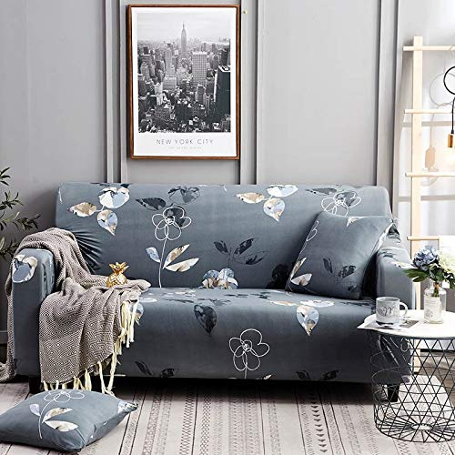 Funda elástica para sofá, Fundas elásticas Modernas, Fundas para sofá para Sala de Estar, Silla, Funda para sofá, Fundas para Muebles, A7, 4 plazas