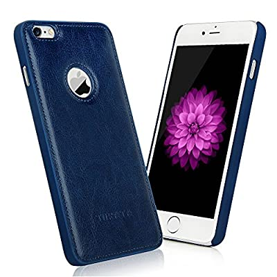 iPhone 6/6s Case - TURATA [Slim fit] Premium PU Leather Surface Coated Non Slip PC Back Thin Protection Hard Case for iPhone 6/6s