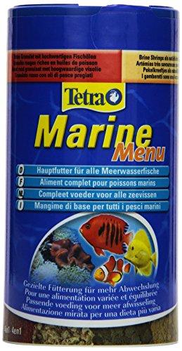 Tetra Marine Menu Hauptfutter-Mischung für alle Meerwasserfische für eine ausgewogene Ernährung in 4 verschiedenen Sorten, 250 ml Dose