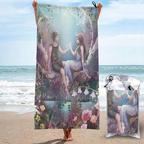 chenjian Toalla de baño Peter Pan Toallas de baño Microfibra Suave de secado rápido Viajes Playa Camping Gimnasio Piscina
