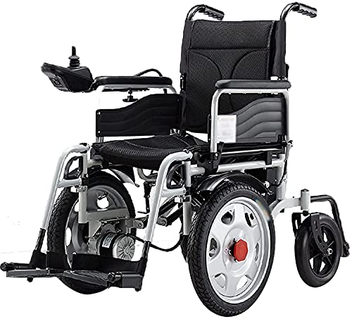 MENG Electric Wheelchair is Lightweight, Foldable, Anti-Backward, Light and Portable, with Anti-Dumping Wheelchair, Elderly Disabled Scooter,Black