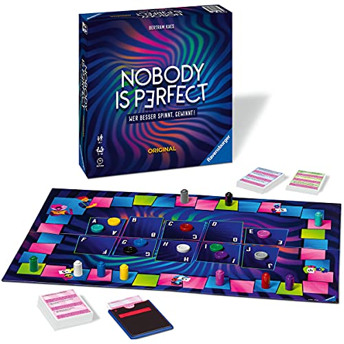 Ravensburger Familienspiel 26845 - Nobody is perfect - Gesellschaftsspiel für Jugendliche und Erwachsene, für 3-10 Spieler, Brettspiel ab 14 Jahren
