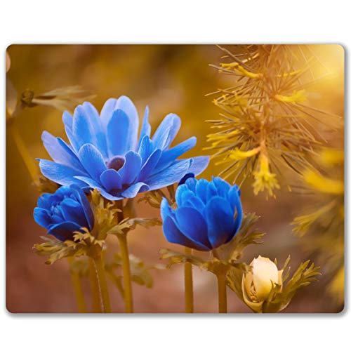 Shalysong Mouse pad Personalized Computer Mouse pad Office Decoration Accessories Gift NonSlip Rubber Mouse pad for Laptop Blue Flower