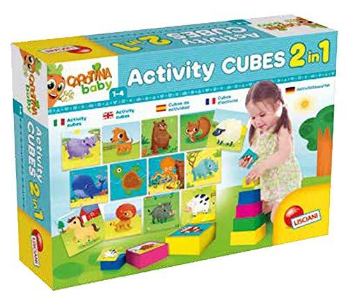 Lisciani - CAROTINA BABY ACTIVITY CUBES 2 EN 1, 67862