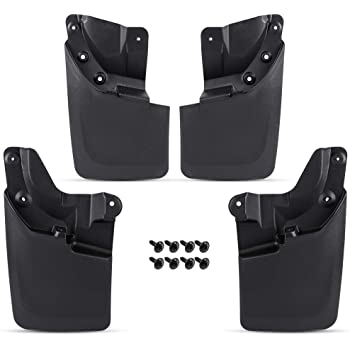 CHEDA 4pcs Mud Flaps Mudguard Fenders Splash Guards Fits for Toyota Tacoma 2016-2017 Front and Rear Sides