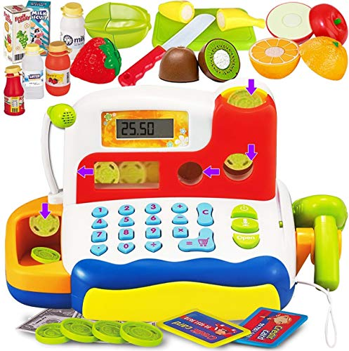 FUNERICA Durable Cash Register Toy for Kids | with Electronic