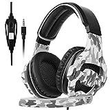 [Xbox One, PS4 Casque Gaming ]SADES SA810 Casque Xbox One 3.5mm Micro Premium Anti-bruit Audio Stéréo Basse Jeux Vidéo Gaming Parfait Pour PC Laptop Tablette et Téléphones Mobiles (Camouflage)