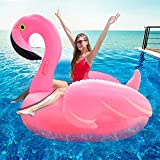 """TURNMEON Large Inflatable Flamingo Pool Float Party Toys with Durable Handles, Summer Beach Float Swimming Pool Inflatables Ride-on Pool Toys Raft Lounge for Kids Teens(51""""x 51"""" x 39"""")"""