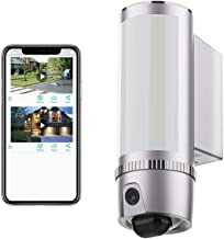 FREECAM Floodlight Camera with Motion Lighting,HD 1080P Outdoor Security WiFi Camera with Night Vision,Two-Way Talk and Si...