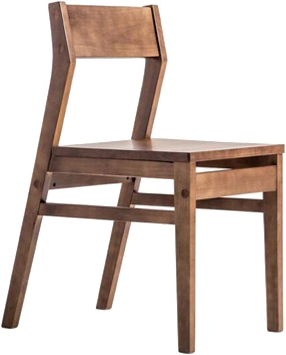 Dining Chairs Dining Table Chair Kitchen Chairs-Nordic Solid Wood Modern Minimalist Home All Desk Chair Simple Restaurant Table Chair HENGXIAO (color   Walnut color)