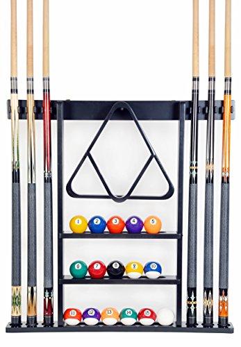 Cue Rack Only - 6 Pool Cue - Billiard Stick Wall Rack...