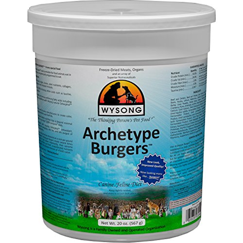 Wysong Archetype Burgers Canine/Feline Diet Dog/Cat Food- 20 Ounce Canister