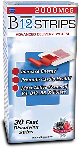 Essential Source Vitamin B12 Strips with B6 and Biotin, 2000 mcg - 30 Day Supply