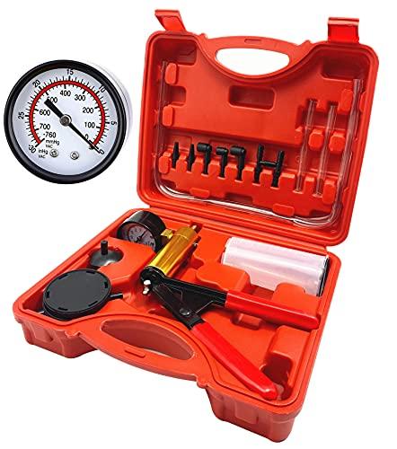 DHA Brake Bleeding Kit, Hand Held Vacuum Pump Pressure Tester with Durable...