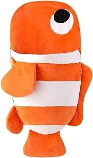 Cotton Baby Winter Sleeping Bag Cute Cartoon Fish Shark Baby Children Sleepy Bag Warm Anti Kick Blanket Quilt Creative Gifts (Color : Orange, Size : 105cm)