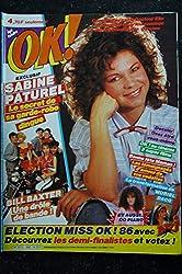 OK ! âge tendre 540 1986 SABINE PATUREL BILL BAXTER MURIEL DACQ ELECTION MISS OK! 86