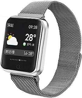 WUAZ Aptitud Monitor de Ritmo rastreadores, Impermeable de los Deportes Reloj Inteligente Bluetooth presión Arterial Inteligente Reloj del Ritmo cardíaco Reloj rastreador de Ejercicios podómetro