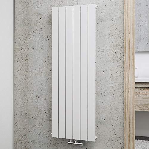 Schulte Design-Heizkörper Aachen, 120 x 46 cm, 621 Watt Leistung, Mittelanschluss, alpin-weiß, Wohnraum-Heizkörper für Zweirohr-Systeme